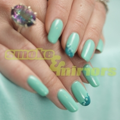 mint and teal